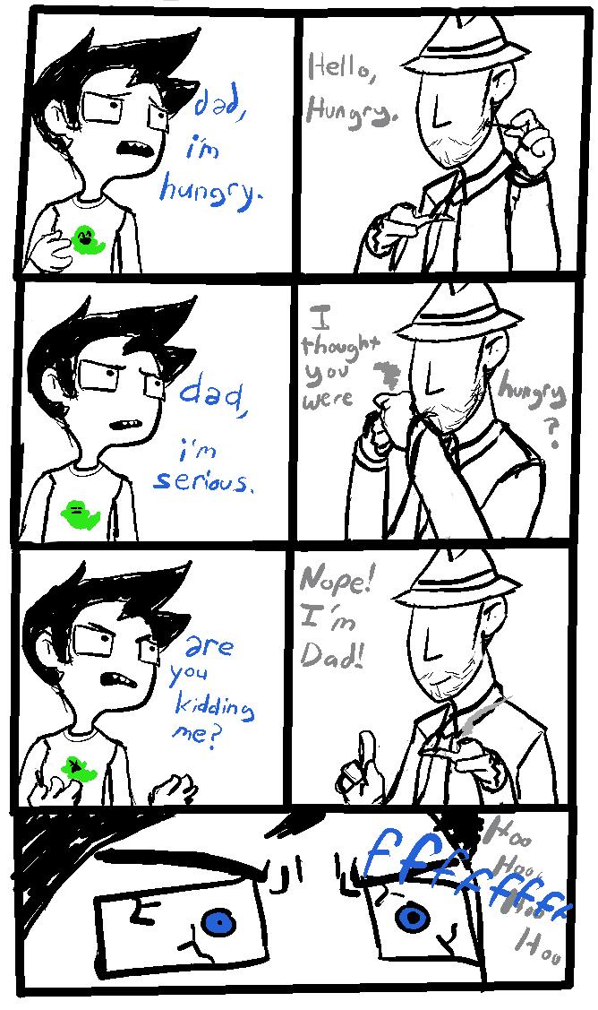 comic dad highlight_color john_egbert pixel pungoeshere punstuck starter_outfit