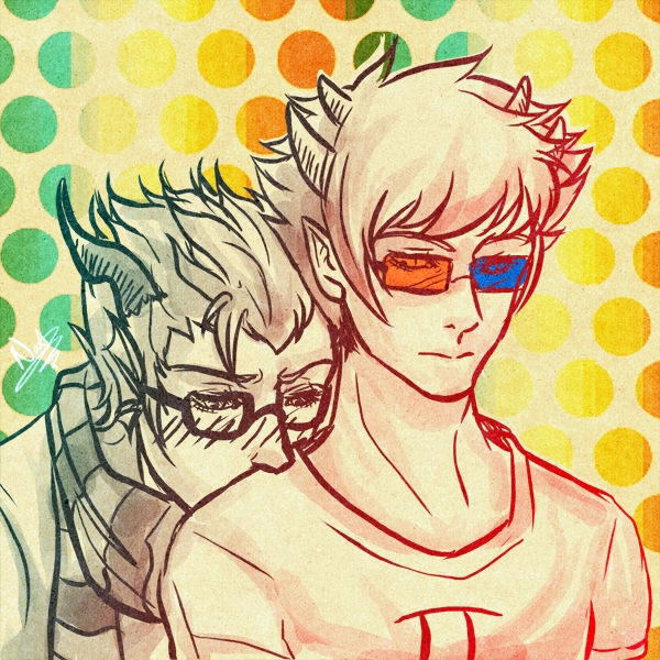 blush eridan_ampora erisol head_on_shoulder s-k-apegoat shipping sollux_captor