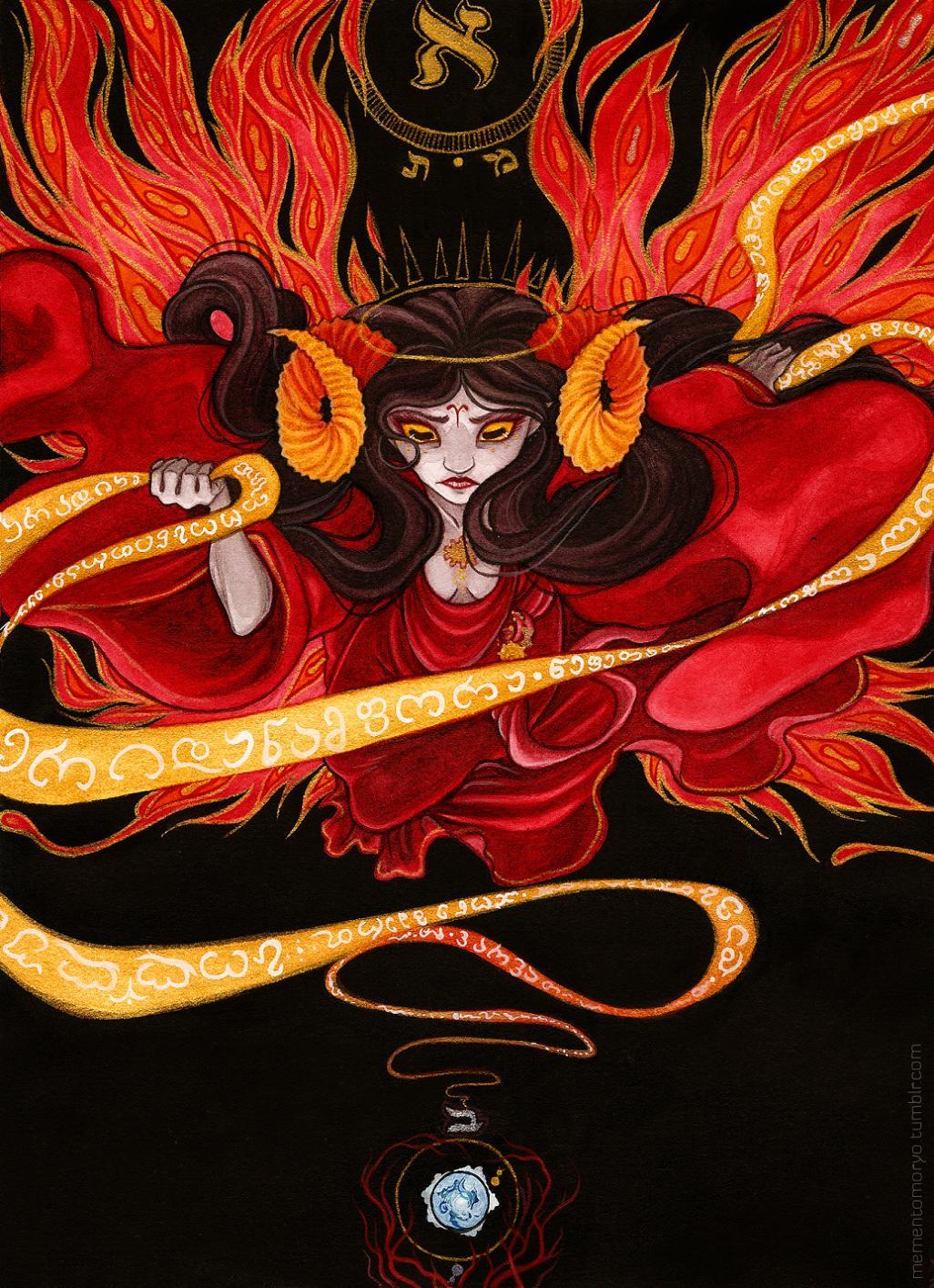 aradia_megido epic godtier maid mementomoryo skaia solo watercolor