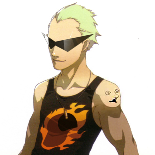 1s_th1s_you crossover dirk_strider image_manipulation persona shin_megami_tensei solo source_needed strong_tanktop