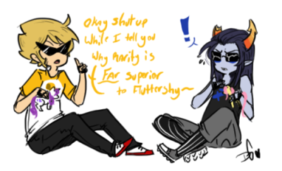! dirk_strider equius_zahhak my_little_pony text they-be-trollin