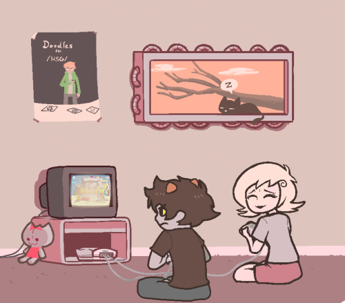 4chan cats fenestrated_window gaming karkat_vantas metastuck newtypehero roxy_lalonde sleeping