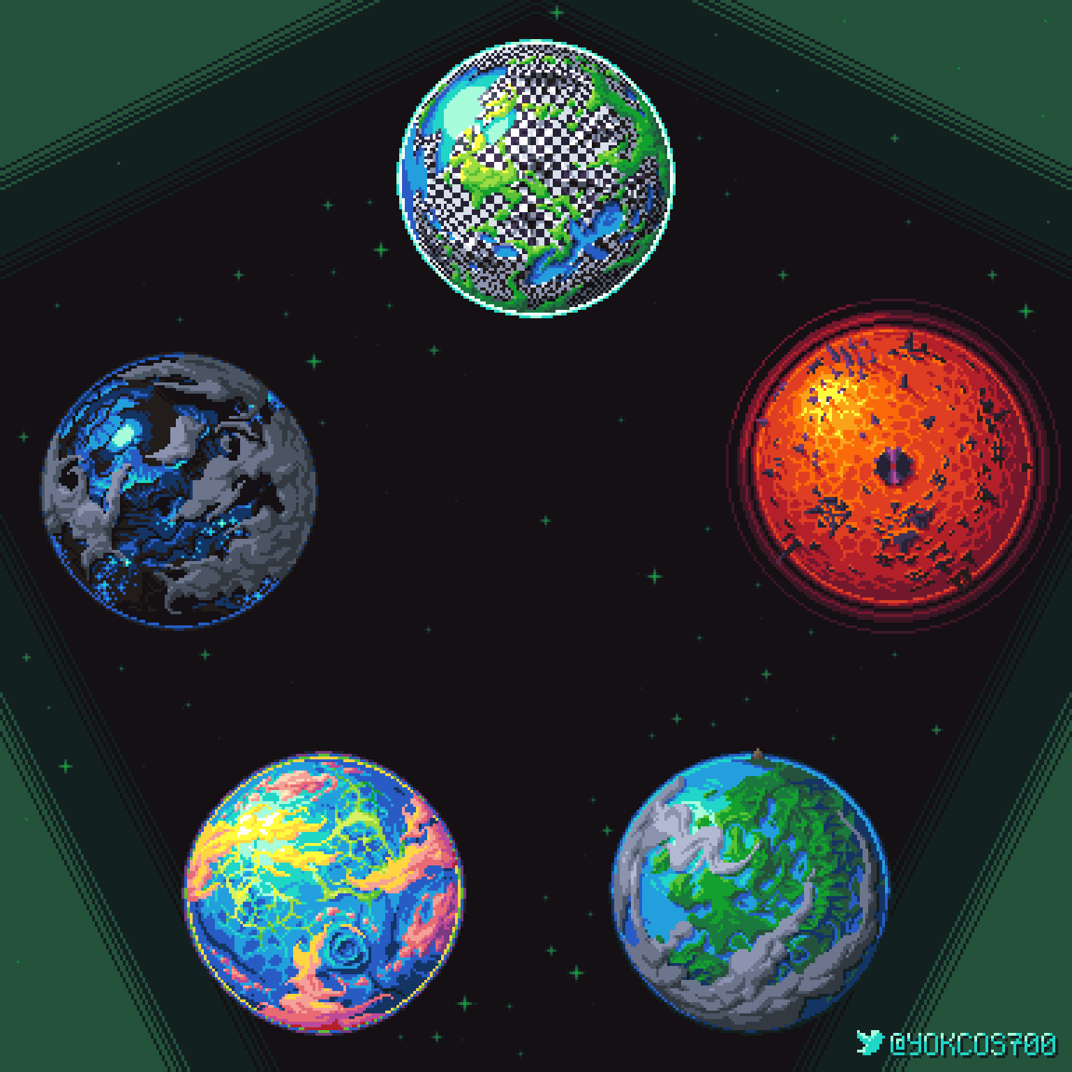 battlefield land_of_frost_and_frogs land_of_heat_and_clockwork land_of_light_and_rain land_of_wind_and_shade pixel planets twitter yokcos700