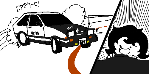 car crossover hiveswap initial_d joey_claire parody skellyanon solo