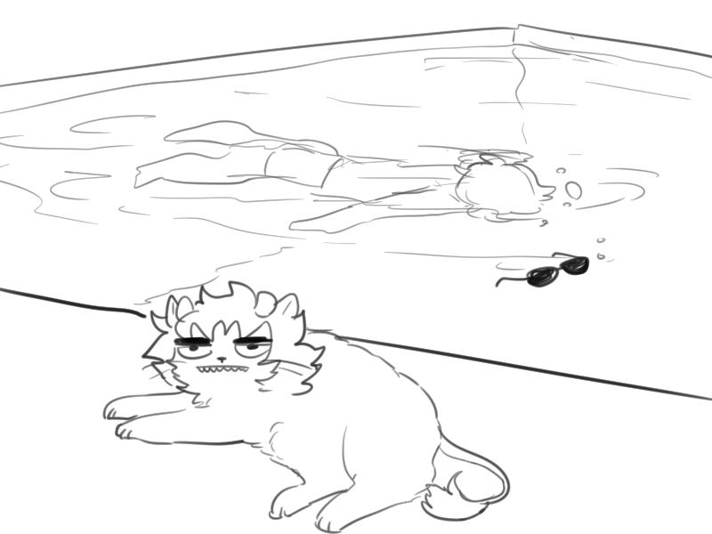 animalstuck dave_strider karkat_vantas salihombox swimsuit