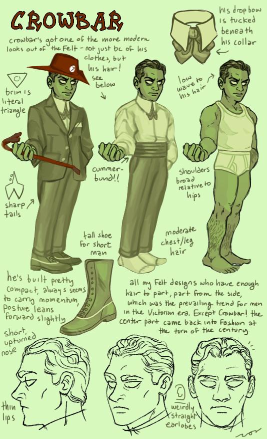character_sheet crowbar felt humanized juju_breaker no_hat profile text tricotee undergarments