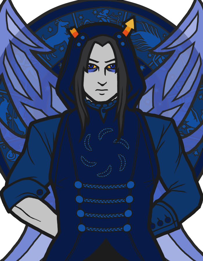 equius_zahhak fancytier godtier heir no_glasses non_canon_design solo void_aspect waafu