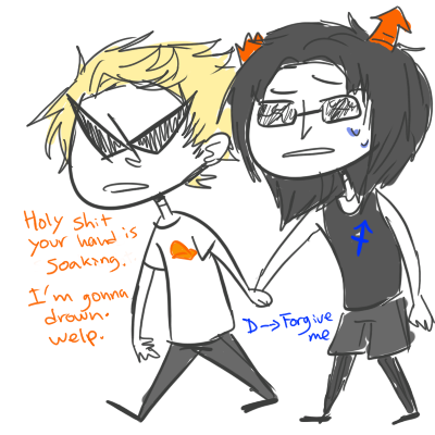 dirk_strider equius_zahhak holding_hands pizzeta pony_pals shipping