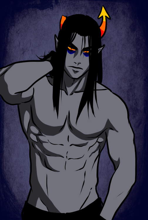 bagofasshairs equius_zahhak no_glasses no_shirt solo
