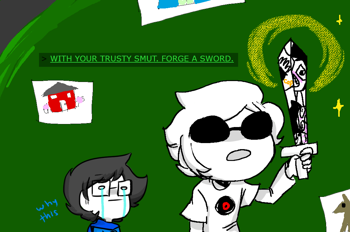 alpha_kids breath_aspect crying dave_strider dirk_strider godtier heir homosuck hopesploded jake_english jane_crocker john_egbert land_of_someone's_handicrafts_i_took panel_redraw roxy_lalonde smut_sword text