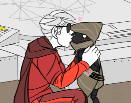 alchemiter dave_strider dzueni godtier heart kiss knight panel_redraw time_aspect wayward_vagabond wv