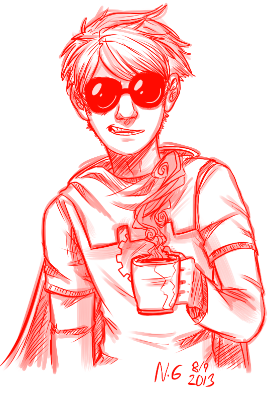 beverage dave_strider godtier knight monochrome solo turtle-demon