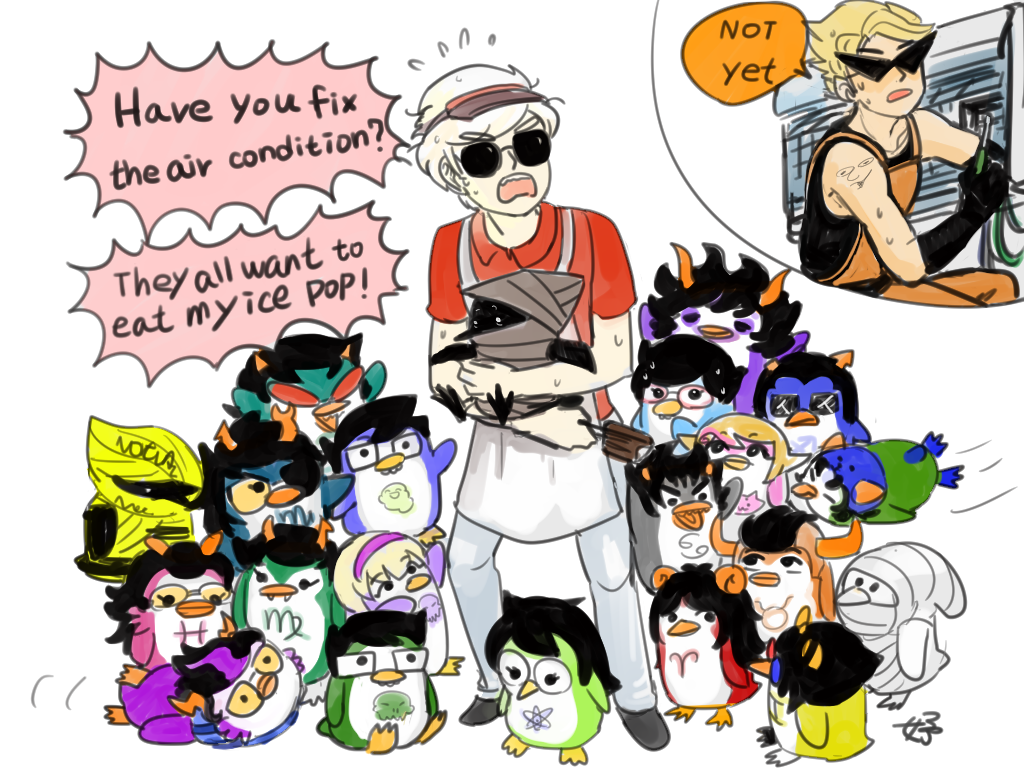 aimless_renegade all_kids alpha_kids alternians animalstuck aquariumstuck ar aradia_megido beta_kids carrying dave_strider dirk_strider equius_zahhak eridan_ampora feferi_peixes food gamzee_makara hat jade_harley jake_english jane_crocker john_egbert kanaya_maryam karkat_vantas nepeta_leijon peregrine_mendicant pm request rose_lalonde roxy_lalonde salihombox sollux_captor strong_tanktop sweat tavros_nitram terezi_pyrope text vriska_serket wayward_vagabond word_balloon wv