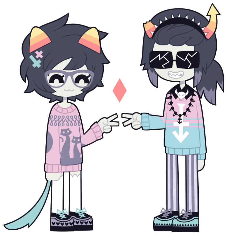 alternate_hair casual diamond equius_zahhak fashion meowrails nekozneko nepeta_leijon palerom pastel_goth shipping transparent