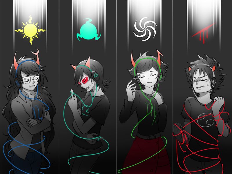 blood_aspect kanaya_maryam karkat_vantas kiwiuccu light_aspect mind_aspect space_aspect terezi_pyrope vriska_serket