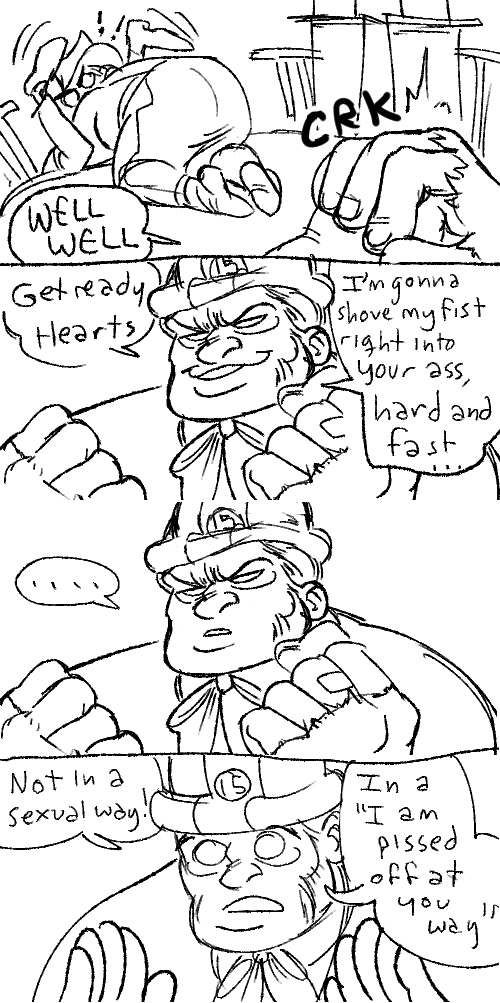 ! cans comic felt hb hearts_boxcars humanized lineart tricotee word_balloon
