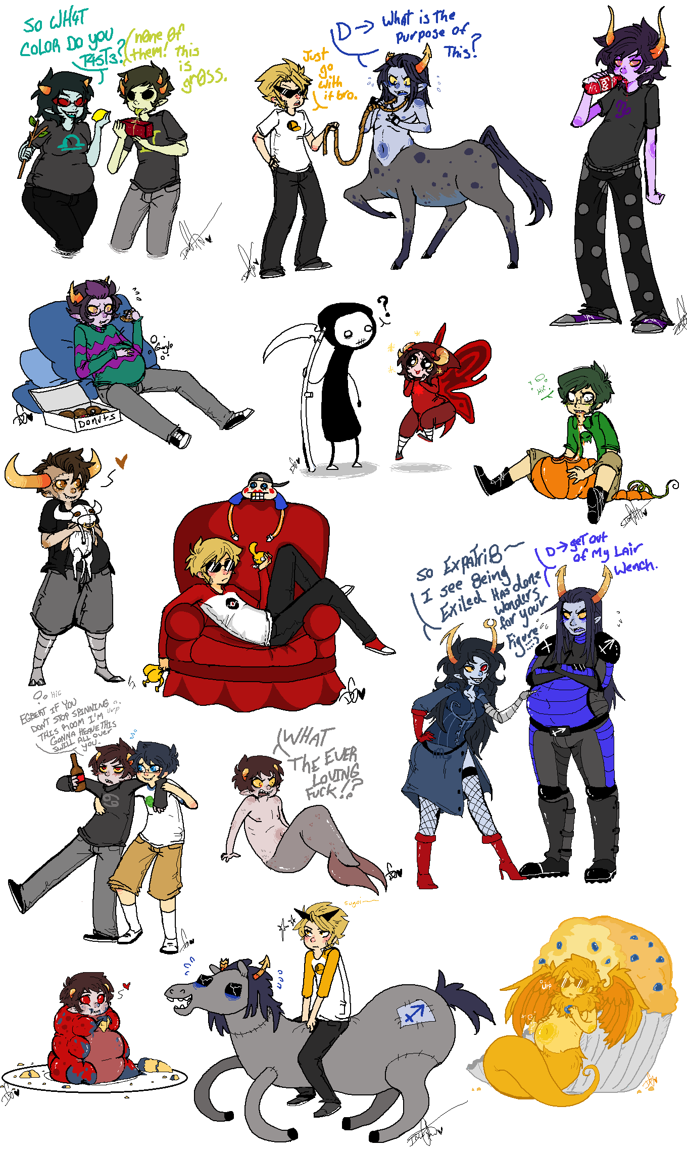 ? alcohol ancestors animalstuck aradia_megido arm_around_shoulder art_dump artificial_limb au blind_love blind_sollux blush centaurs chubstuck communism couch dave_strider davesprite death dirk_strider equius_zahhak expatriate_darkleer faygo food gamzee_makara godtier grubs heart jake_english john_egbert karkat_vantas lil_cal lusus maid marquise_spinneret_mindfang merfolk no_glasses problem_sleuth_(adventure) pumpkin scythe shipping smuppets sollux_captor sprite squidbiscuit tavros_nitram terezi_pyrope the_sufferer time_aspect tinkerbull vomit word_balloon