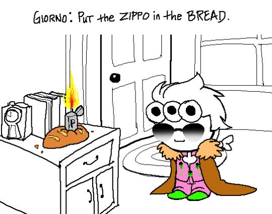 badlydrawngangstar crossover food jojo's_bizarre_adventure parody solo sprite_mode text