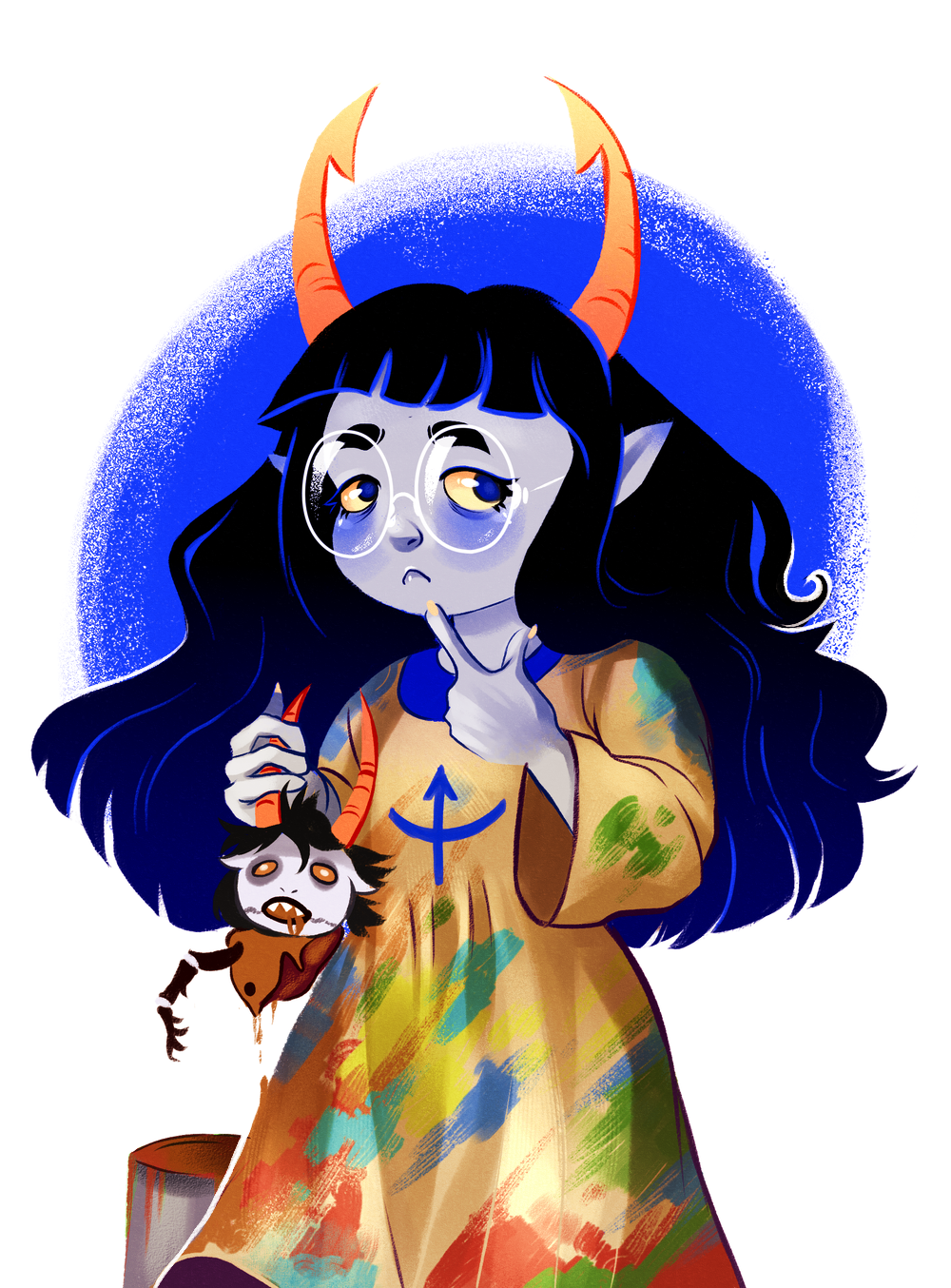 amisia_erdehn blood decapitation gore grubs hiveswap matrosharts