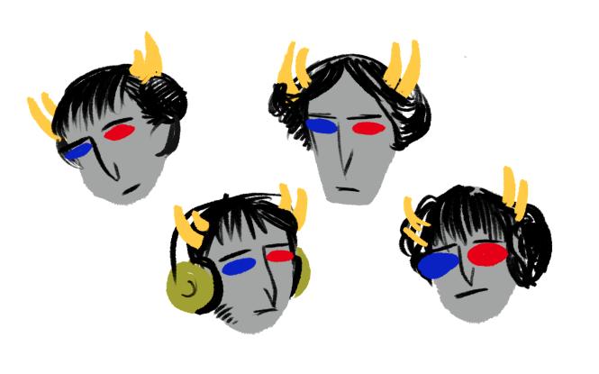 crowry dancestors headshot mituna_captor multiple_personas non_canon_design solo