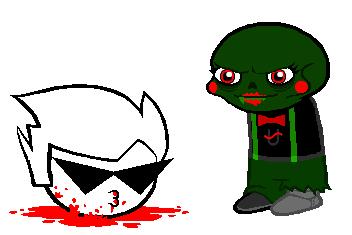 blood caliborn decapitation dirk_strider dirkuu image_manipulation shipping sprite_mode