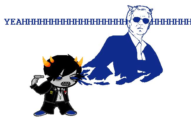 blood crossover csi csi_miami no_glasses parody persona rlabs shin_megami_tensei sollux_captor solo