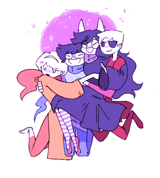 beta_kids breath_aspect dave_strider dogtier godtier heir hug jade_harley john_egbert knight light_aspect rose_lalonde roshambaux seer time_aspect witch