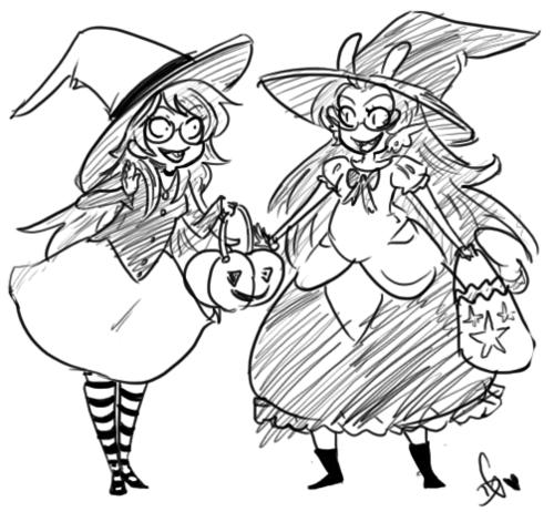 feferi_peixes grayscale halloweenstuck hat jade_harley pumpkin squidbiscuit