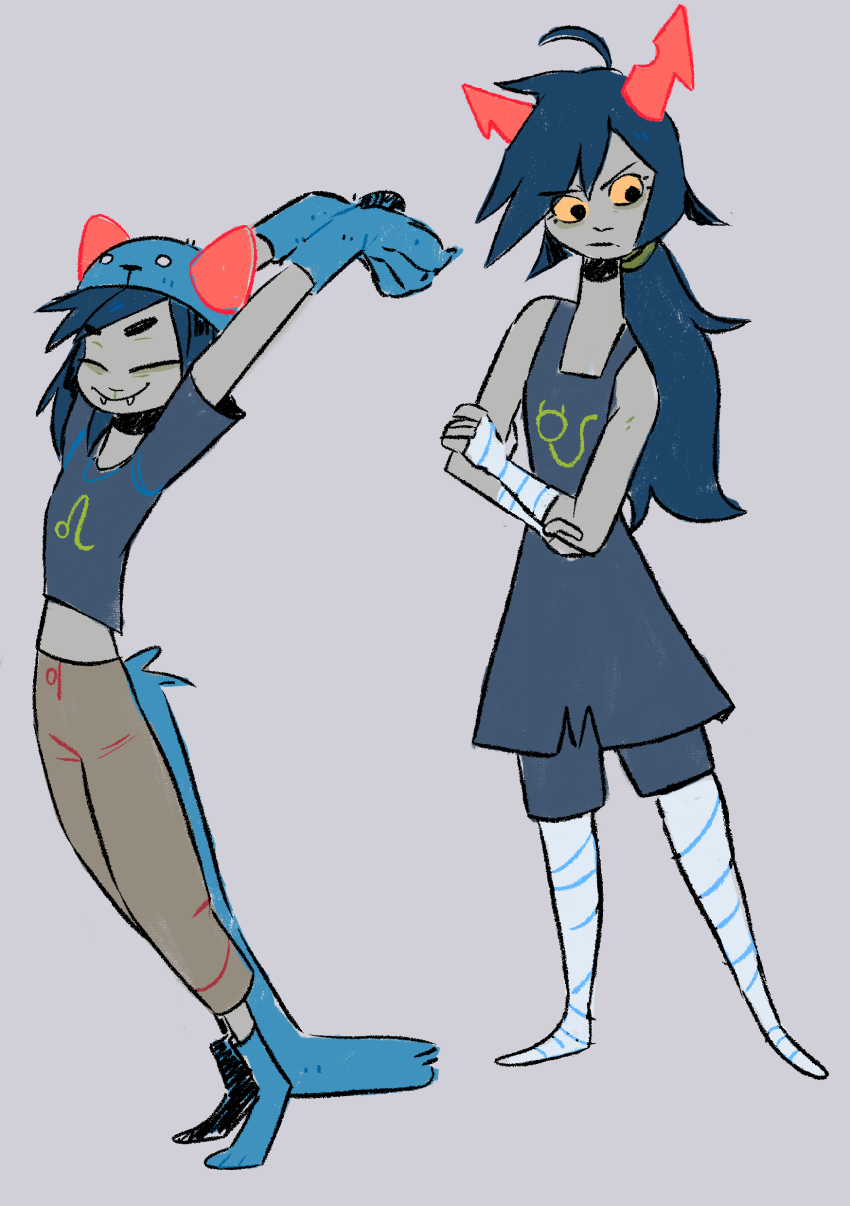 action_claws arms_crossed gilly-e hiveswap nepeta_leijon polypa_goezee