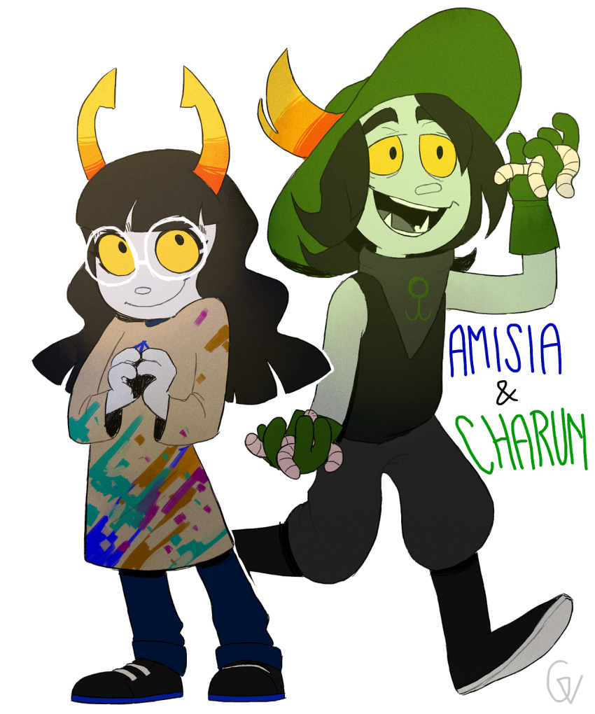 amisia_erdehn blood charun_krojib hiveswap niramihasters text worms