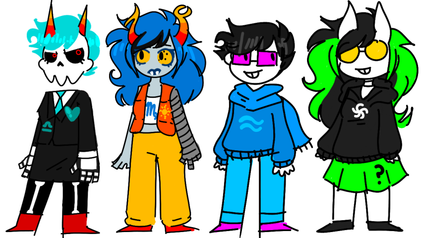 ? breath_aspect crossover jade_harley john_egbert light_aspect mystery_skulls source_needed space_aspect terezi_pyrope vriska_serket