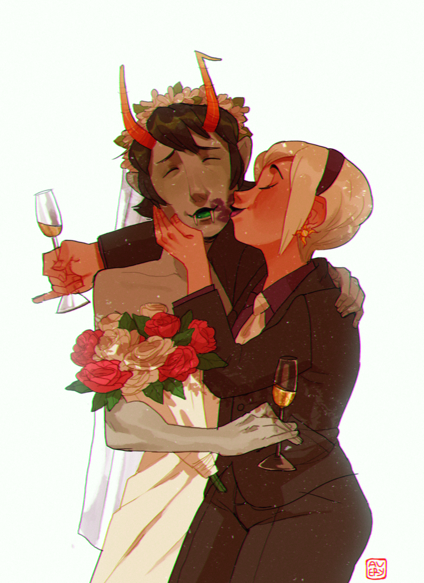beverage flowers huge kanaya_maryam kiss koukouvayia redrom rose_lalonde rosemary shipping
