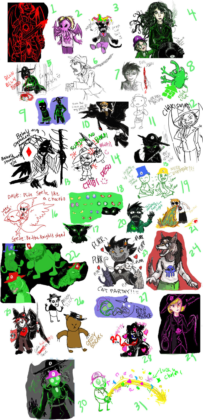 animalstuck apple_juice art_dump beta_kids blood bondage bq cans carapaced cats censor chibi cigarette_holder_lance clover cosplay crowbar dave_strider diamonds_droog die doze fanoffspring felt fin final_fantasy fpreg heart huge_wish humanized itchy jack_noir jade_harley john_egbert katana knife mauve_squiddle_shirt nervous_broad no_hat ohgodwhat problem_sleuth problem_sleuth_(adventure) psychojohn rose_lalonde sawbuck sburb_logo seerofnight seppucrow sepulchritude shipping smiling_karkat smoking smuppets snowman spades_slick stitch trace vomit whip wise_guy_slime_suit