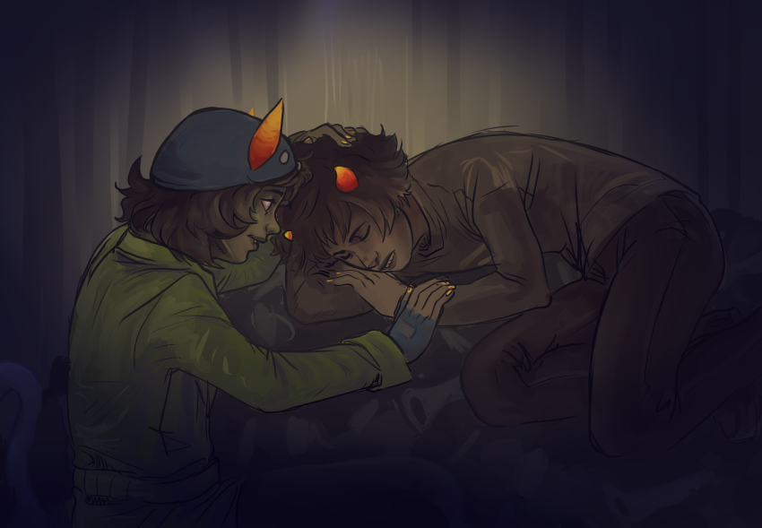 aei-sb cat_hat dream_ghost huge karkat_vantas katnep nepeta_leijon redrom sadstuck shipping sleeping