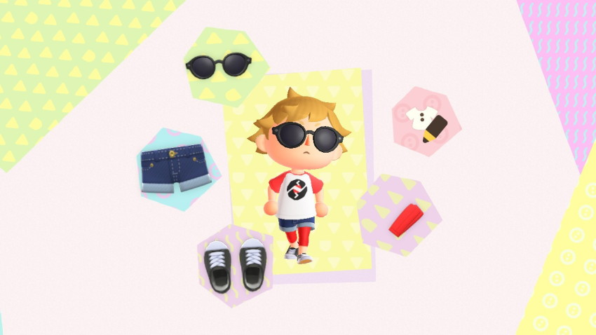 3d animal_crossing crossover dave_strider jolyne-jiyuu nintendo red_baseball_tee solo