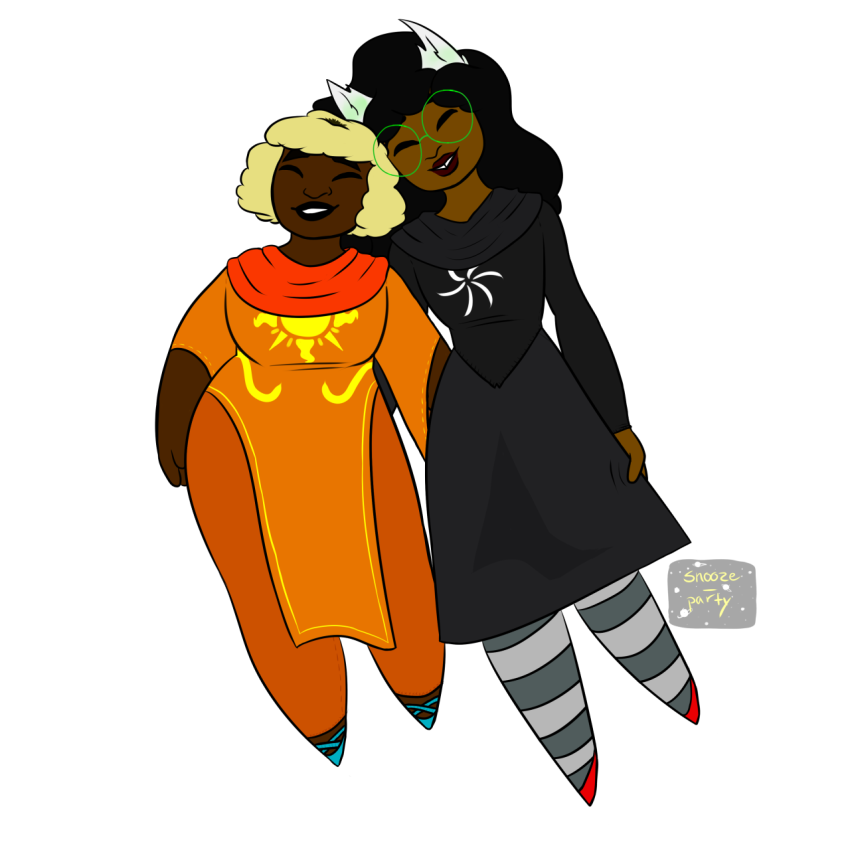 dogtier godtier guns_and_roses jade_harley light_aspect midair redrom rose_lalonde seer shipping snooze-party space_aspect transparent witch