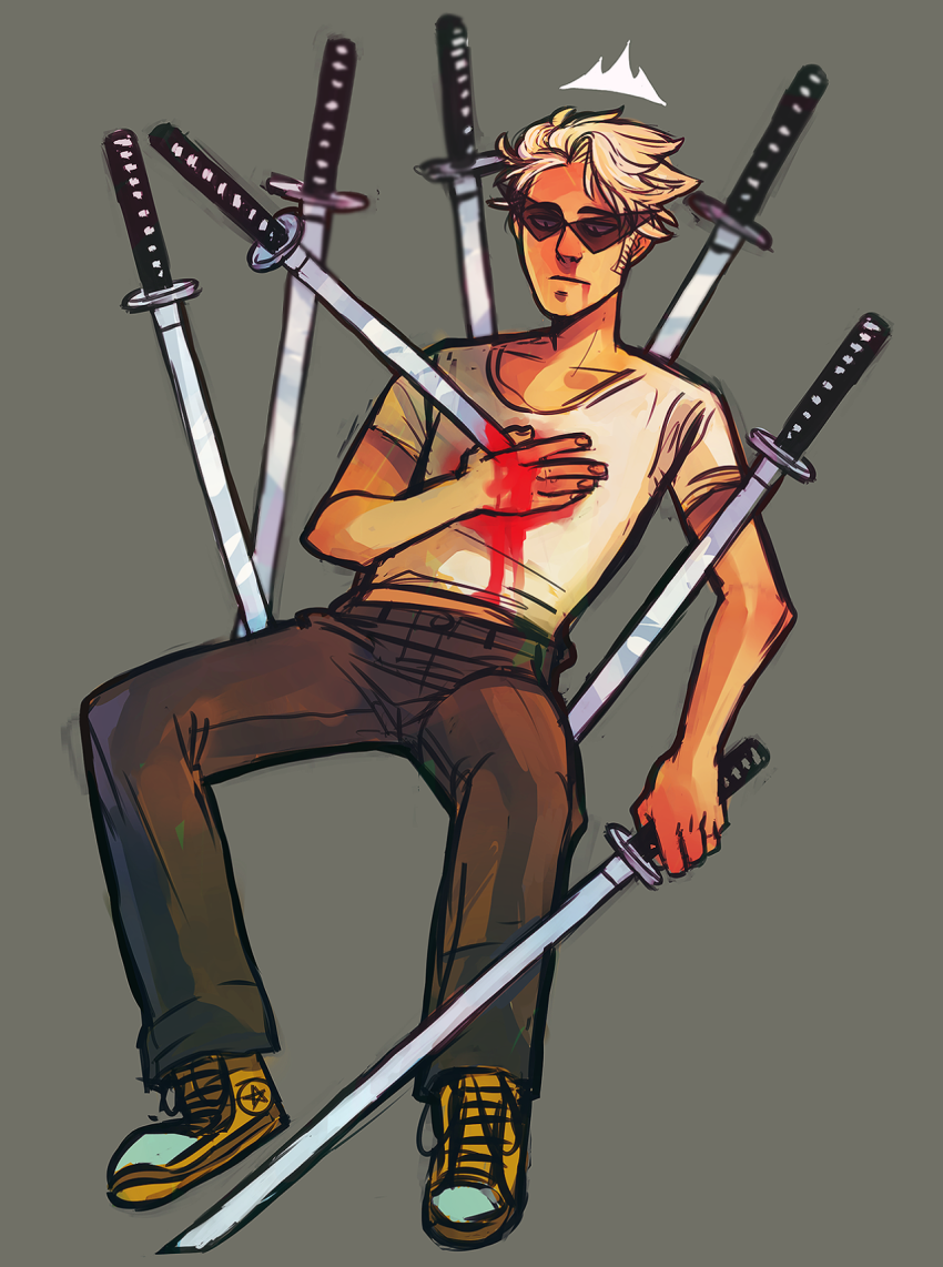 blood casentine dirk_strider huge impalement solo unbreakable_katana
