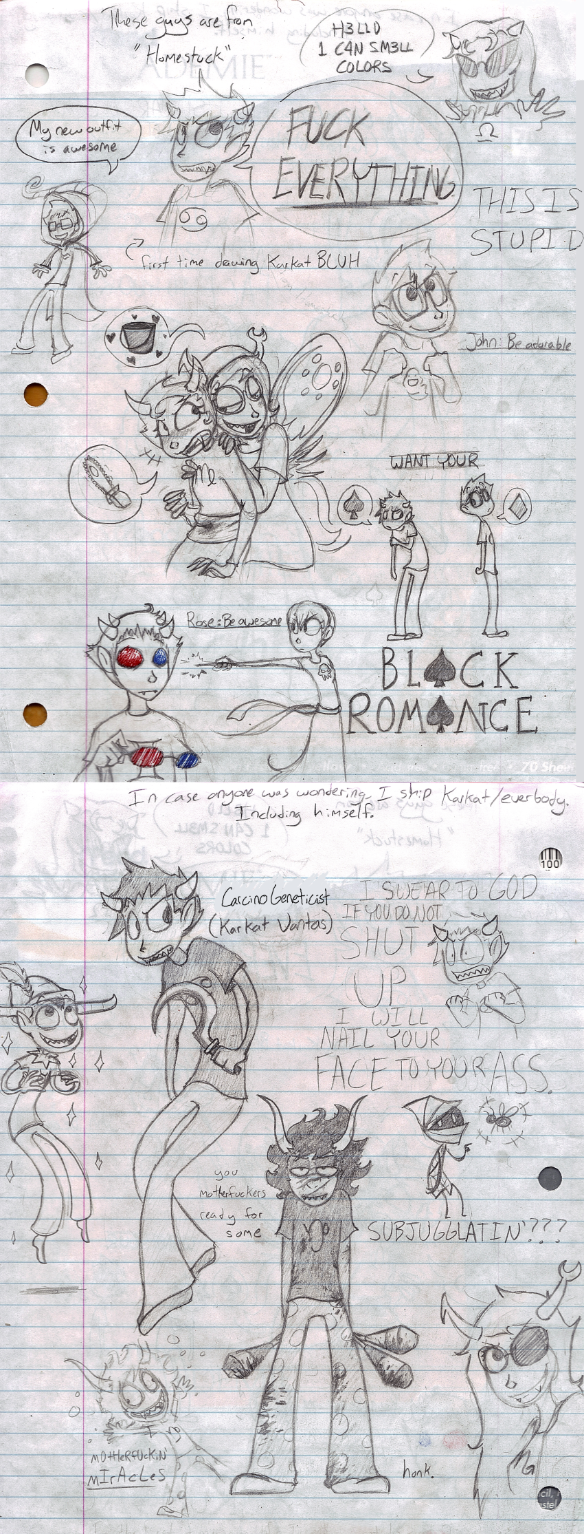 art_dump black_squiddle_dress blackrom blood blush breath_aspect bucket chainsaw communism deuce_clubs diamond fraymotif gamzee_makara gash_sash godtier heart heir homes_smell_ya_later honk john_egbert kanaya_maryam karkat_vantas lady_gaga light_aspect lyricstuck needlewands no_glasses palerom pupa_pan rainbow_drinker redrom rose_lalonde serenity shipping sketch sober_gamzee sollux_captor spade spidermoth starter_outfit tavros_nitram terezi_pyrope text thief vriska_serket wayward_vagabond word_balloon wv