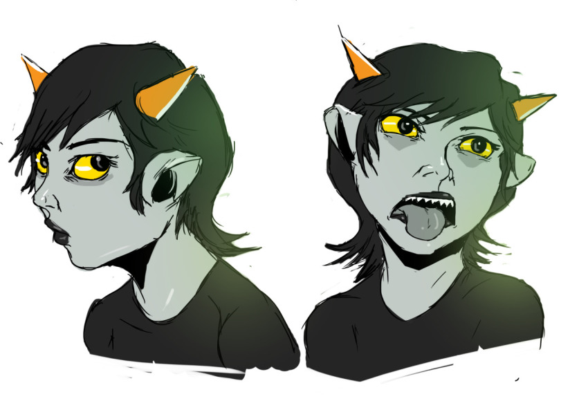 headshot no_glasses redandblacktac seeing_terezi solo terezi_pyrope