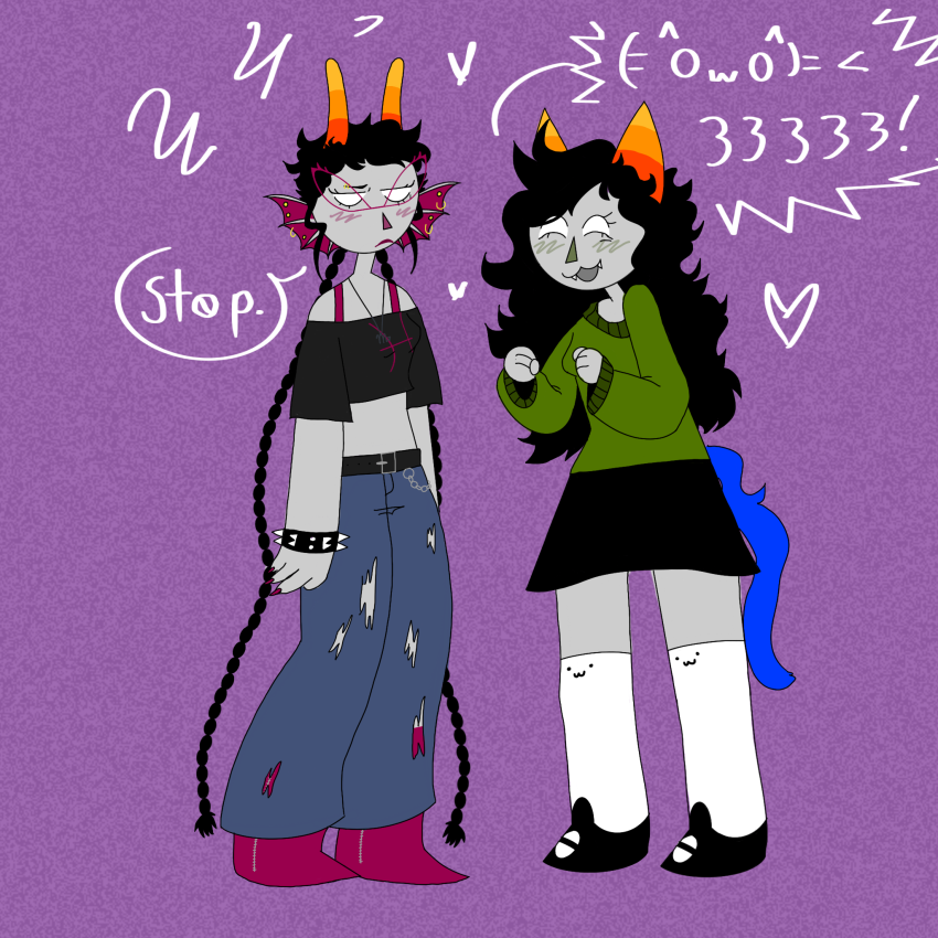 casual meenah_peixes meulin_leijon non_canon_design shipping slickendo word_balloon