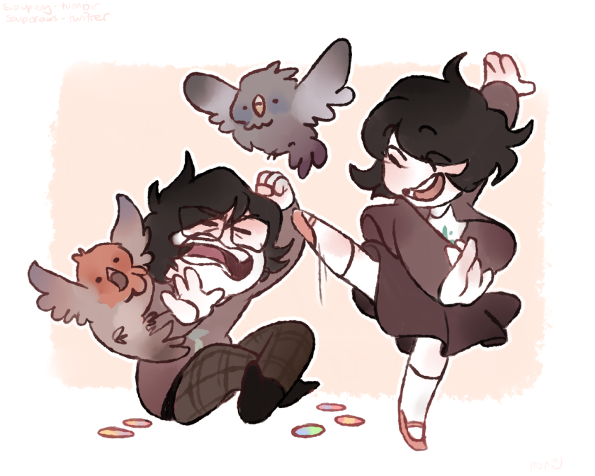 byers frohike hiveswap joey_claire jude_harley siblings:joeyjude sitting soupery