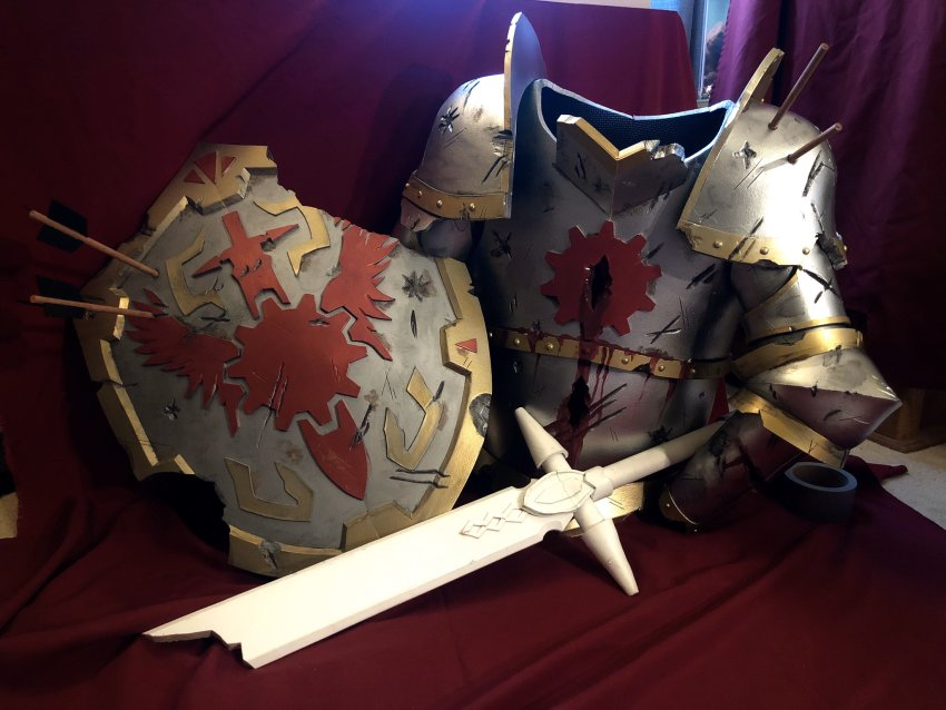 armor caledfwlch cosplay dave_strider knight time_aspect twitter visguard_