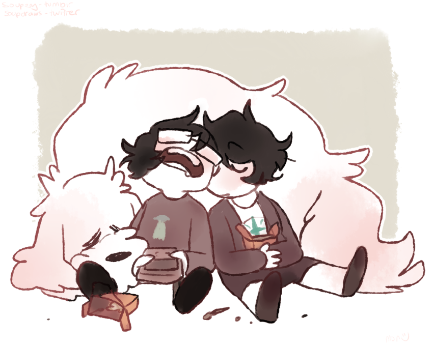 food hiveswap joey_claire jude_harley siblings:joeyjude sleeping soupery tesseract