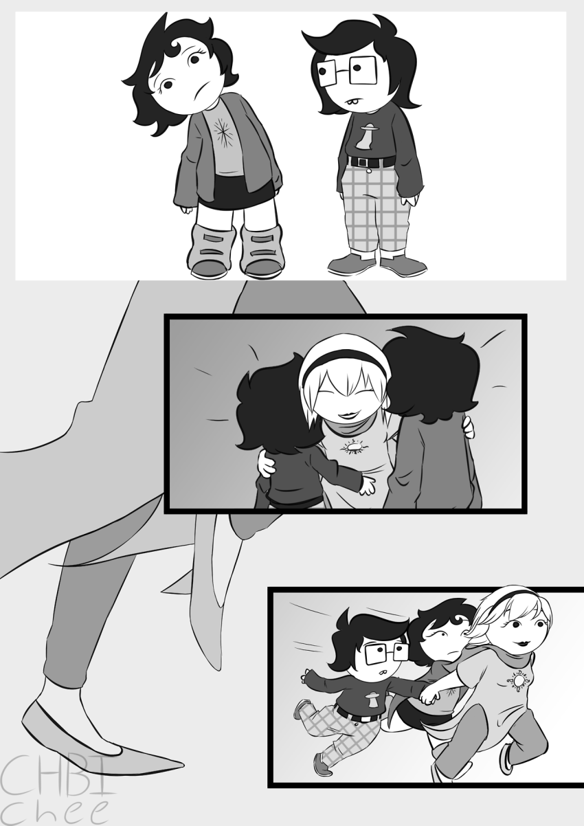 chbichee comic godtier hiveswap hug joey_claire jude_harley light_aspect rose_lalonde seer