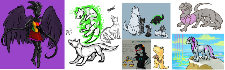 akrona art_dump basilisk becquerel black_queen bq casey cats consorts fanoffspring jaspers land_of_light_and_rain liv_tyler maplehoof salamanders shipping terezi_pyrope underlings