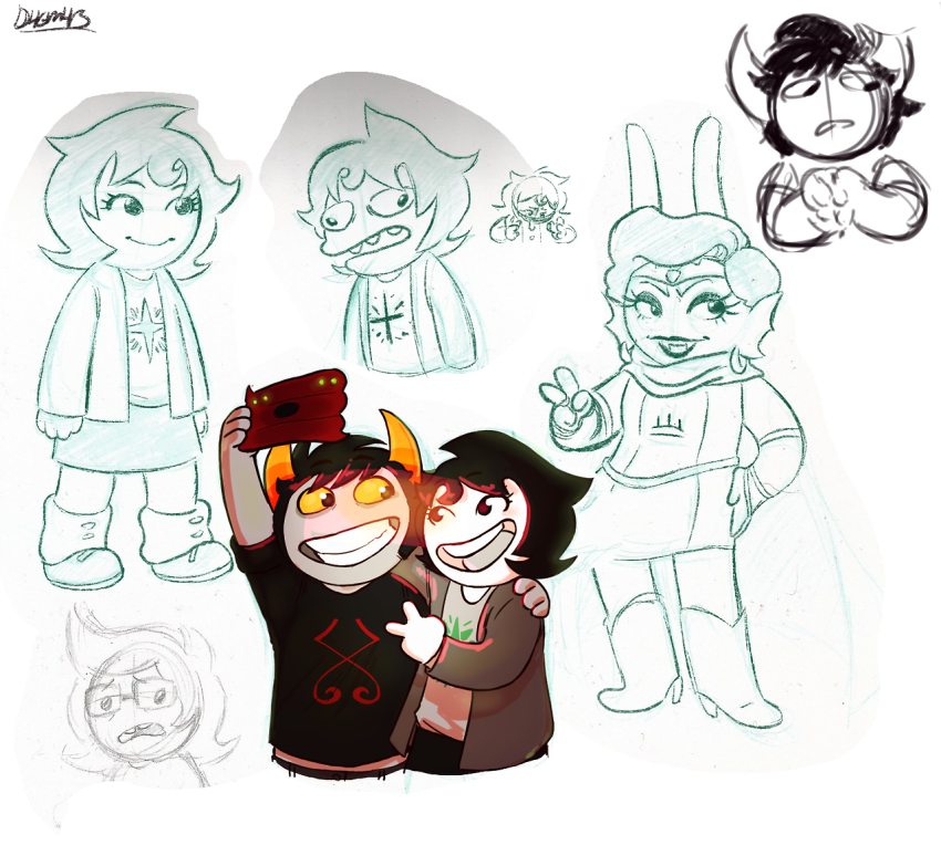 dagmars hiveswap joey_claire jude_harley multiple_personas trizza_tethis xefros_tritoh