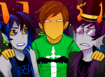 andrew_hussie arm_around_shoulder cakeparadox fantroll headshot kickstarter_fantrolls mierfa_durgas nektan_whelan rating:Safe score:42 user:Chocoboo