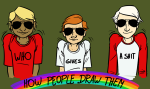acodanies dave_strider freckles multiple_personas rainbow solo text the_truth rating:Safe score:7 user:saigner