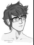 acornbunny grayscale headshot john_egbert sketch solo  rating:safe score:1 user:chocoboo