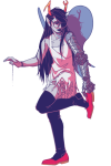 artificial_limb fairy_dress solo victorylamp vriska_serket wings_only rating:Safe score:6 user:saigner